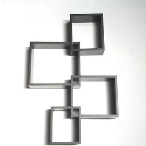 Other - Interconnected Black Retro Wall Hanging Shelf Set